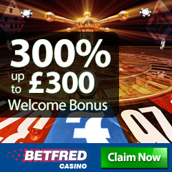 betfred casino sign up bonus